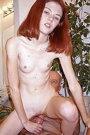 Very old fucks skinny redhead with tiny tits