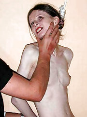 Anorexic Girl Tied Choked and Abused